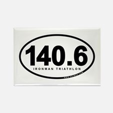 140.6 Ironman Triathlon Rectangle Magnet