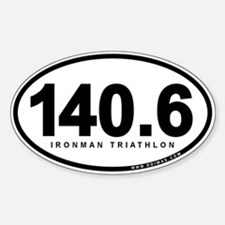 140.6 Ironman Triathlon Sticker (Oval)