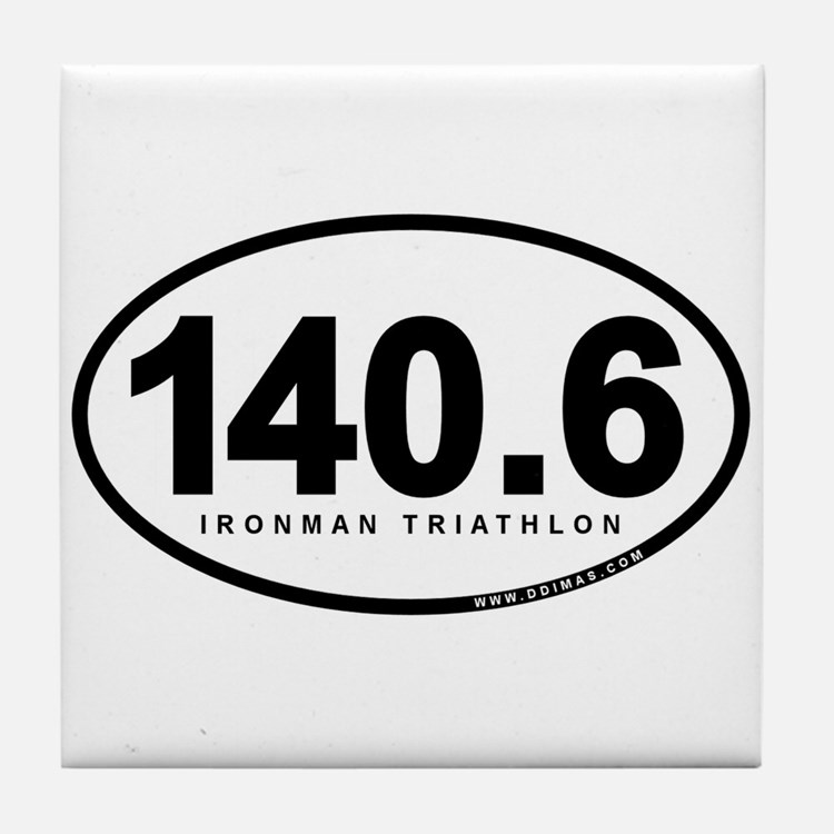 140.6 Ironman Triathlon Tile Coaster