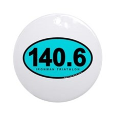 140.6 Ironman Triathlon Ornament (Round)