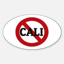 Anti-Cali Oval Decal