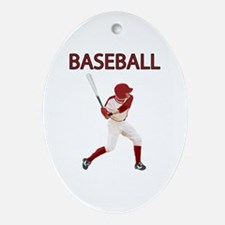 Baseball Ornament (Oval)
