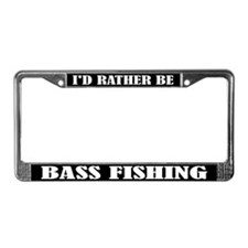 I'd Rather Be Bass Fishing License Frame