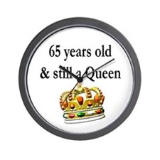 65 YR OLD QUEEN Wall Clock