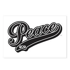PeaceCrew Script (Black) Postcards (Package of 8)