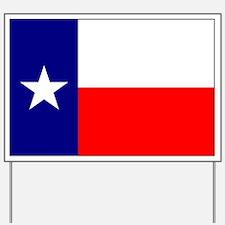 Flag of Texas Yard Sign
