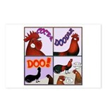 Cocka-Doodle-Doo Postcards (Package of 8)