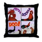 Cocka-Doodle-Doo Throw Pillow