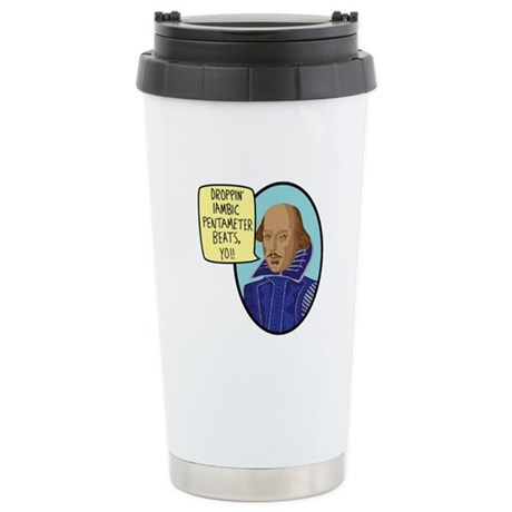 Iambic Beats Stainless Steel Travel Mug