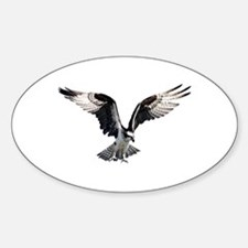 Osprey in Flight Sticker (Oval)