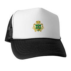 Gold Football Brazil Trucker Hat