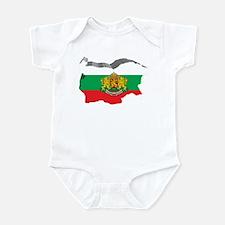 3D Map Of Bulgaria Infant Bodysuit