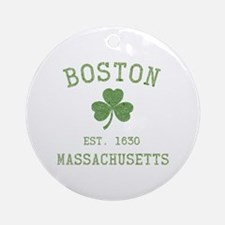 Boston Massachusetts Ornament (Round)
