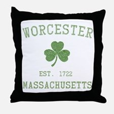 Worcester Massachusetts Throw Pillow