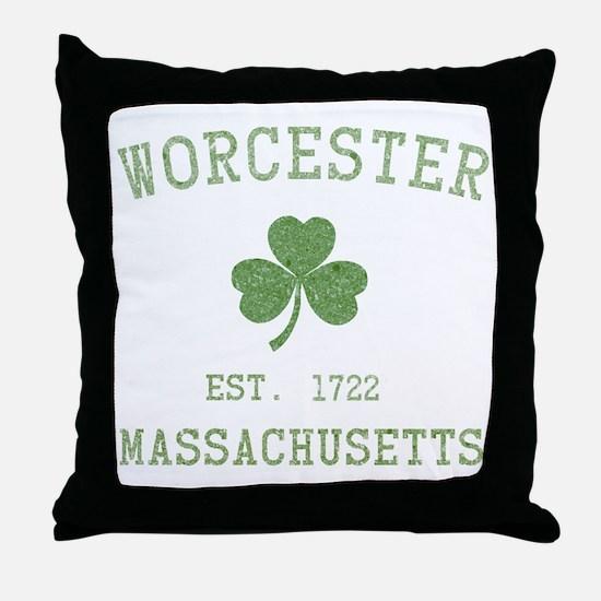 Worcester Massachusetts Throw Pillow