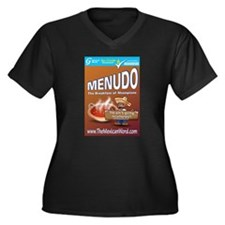 Menudo Women's Plus Size V-Neck Dark T-Shirt