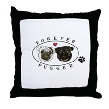 Forever Pugged Throw Pillow