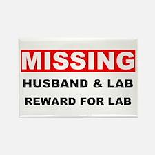 Missing Husband Lab Rectangle Magnet