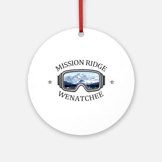 Mission Ridge Ski Area - Wenatche Round Ornament