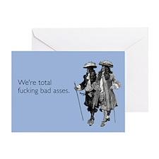 Fucking Bad Asses Greeting Card