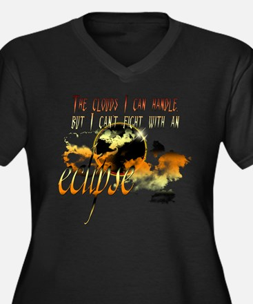 Eclipse Clouds by UTeezSF.com Women's Plus Size V-
