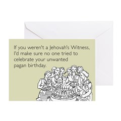 Pagan Birthday Greeting Card