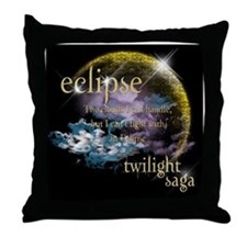 Jacob Quote Eclipse Clouds Throw Pillow