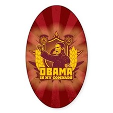 Obama Is My Comrade Decal
