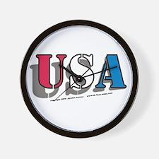 USA ! USA ! USA ! Wall Clock