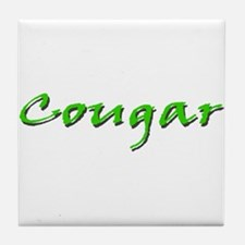 Cougar Green Tile Coaster