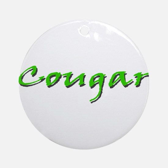 Cougar Green Ornament (Round)