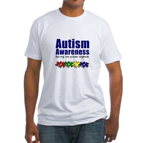 Autism Awareness Puzzle Fitted T-Shirt