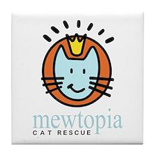 Cute Mewtopia Tile Coaster