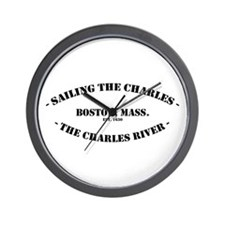 Sailing the Charles, Boston Wall Clock