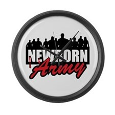 """Newborn Army"" Large Wall Clock"