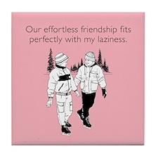 Effortless Friendship Tile Coaster