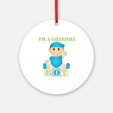I'm A Grandma (PB:blk) Ornament (Round)