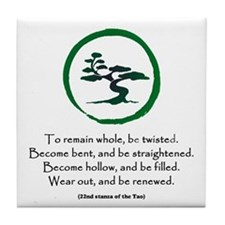 The Tao of the Tree Tile Coaster