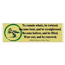 The Tao of the Tree Bumper Sticker