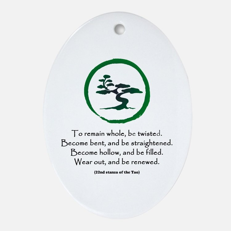 The Tao of the Tree Ornament (Oval)