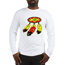 Mandela & 3 Feathers Long Sleeve T-Shirt