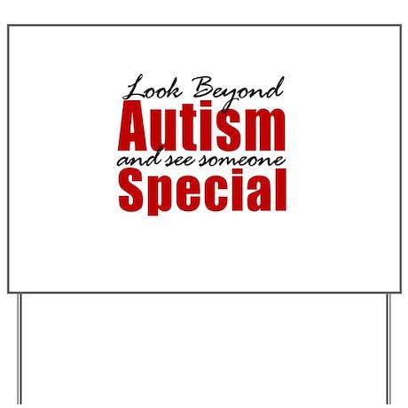 Look Beyond Autism Yard Sign