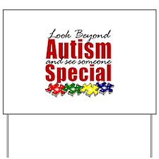 Look Beyond Autism2 Yard Sign