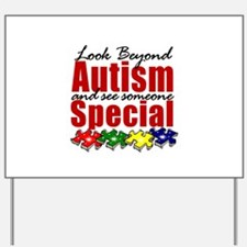 Look Beyond Autism2 Yard Sign