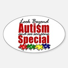 Look Beyond Autism2 Sticker (Oval)