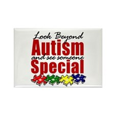 Look Beyond Autism2 Rectangle Magnet (100 pack)