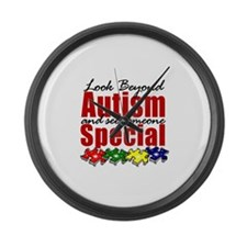 Look Beyond Autism2 Large Wall Clock