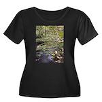 Women's Plus Scoop-Neck Water Forrest T