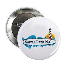 "Salter Path NC - Surf Design 2.25"" Button"