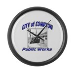 Compton Public Works Large Wall Clock